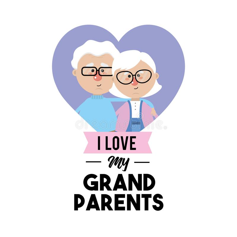 Download I Love My Grandparents Celebration Design Stock Vector ...