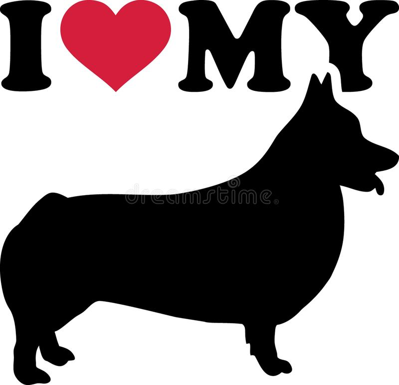 Download I Love My Welsh Corgi Pembroke Stock Vector - Illustration ...