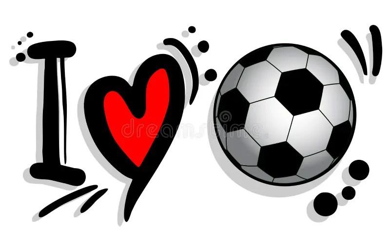 Download I love soccer stock vector. Illustration of love, heart ...