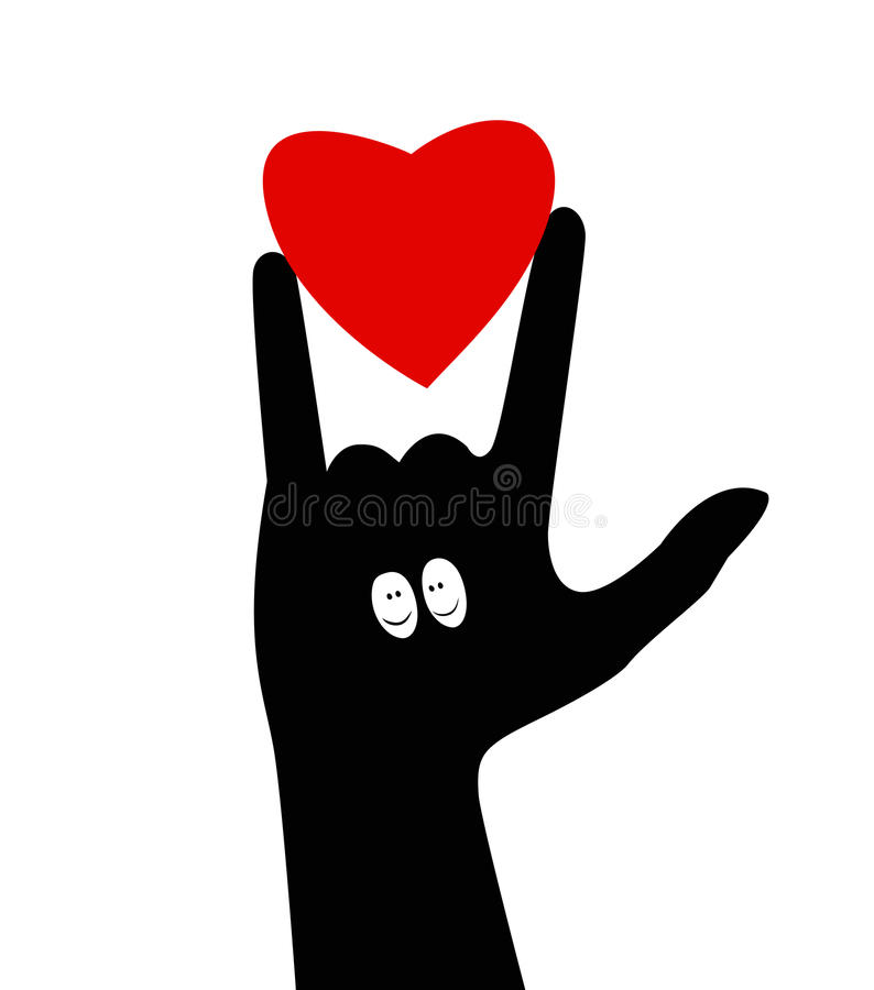 Download I love you.Hand gesture stock vector. Illustration of ...