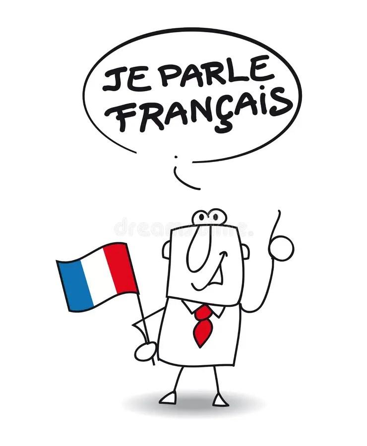 I speak french stock vector. Illustration of translation