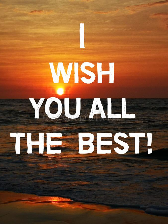 I Wish You The Best : Quote, Congratulation, Message., Stock, Illustration, Isolated,, Life:, 140873582
