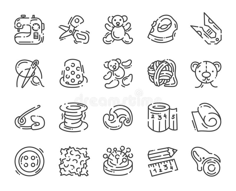 Sewing Needle And Thread Reel Line Icon, Outline Vector