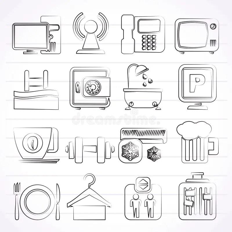Iconos De Los Servicios De Las Amenidades Del Hotel