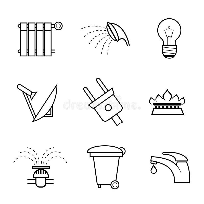 Iconos Del Servicio Público Y De Las Utilidades