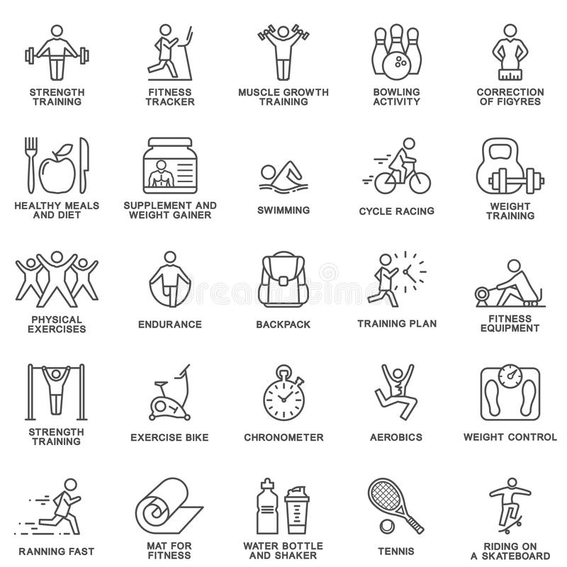 Icons Fitness, Exercise, Gym Equipment, Sports, Activity