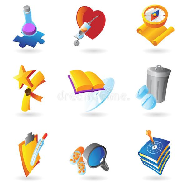 Icons Science And Education Stock Vector