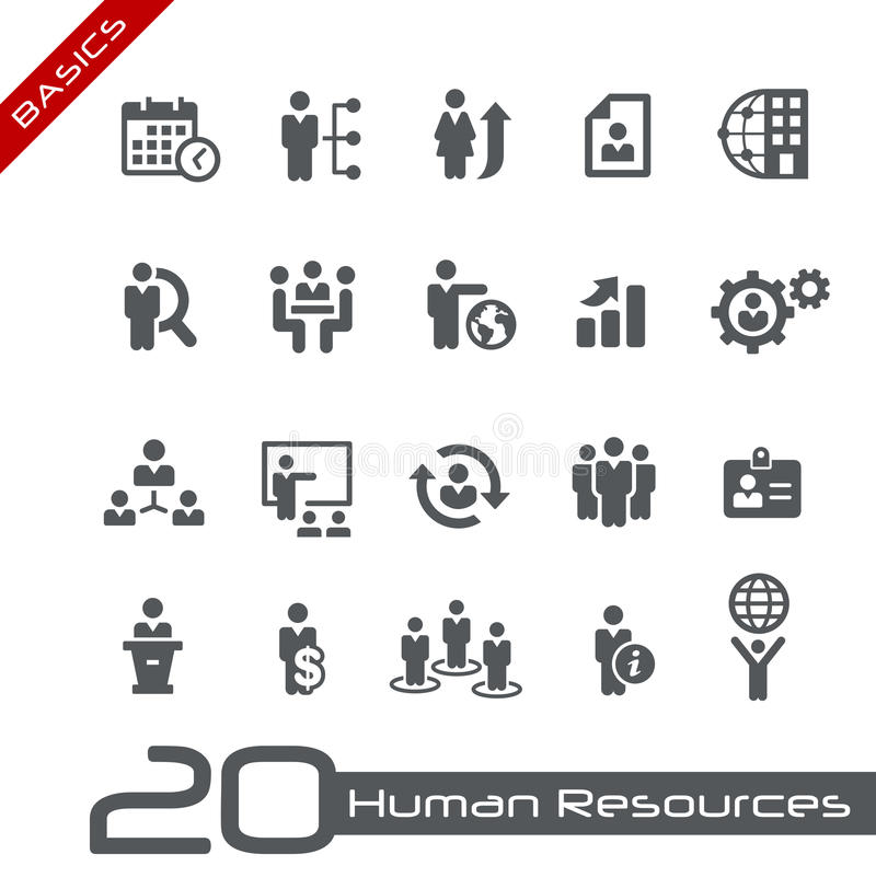 Icons Set Of Human Resources And Business Management