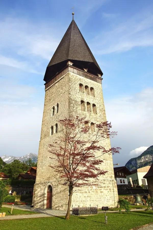 Il Bello Paesaggio Con La Chiesa In Meiringen Immagine Stock  Immagine 57498019