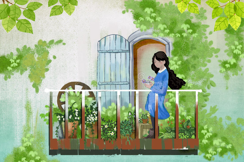 Quiet Girl Wallpaper Hd Illustration For Children The Young Girl Stays In Her
