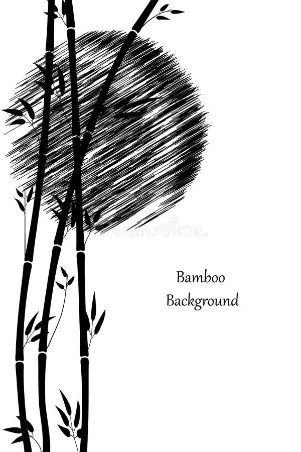 soleil tiges et feuilles de bambou noir