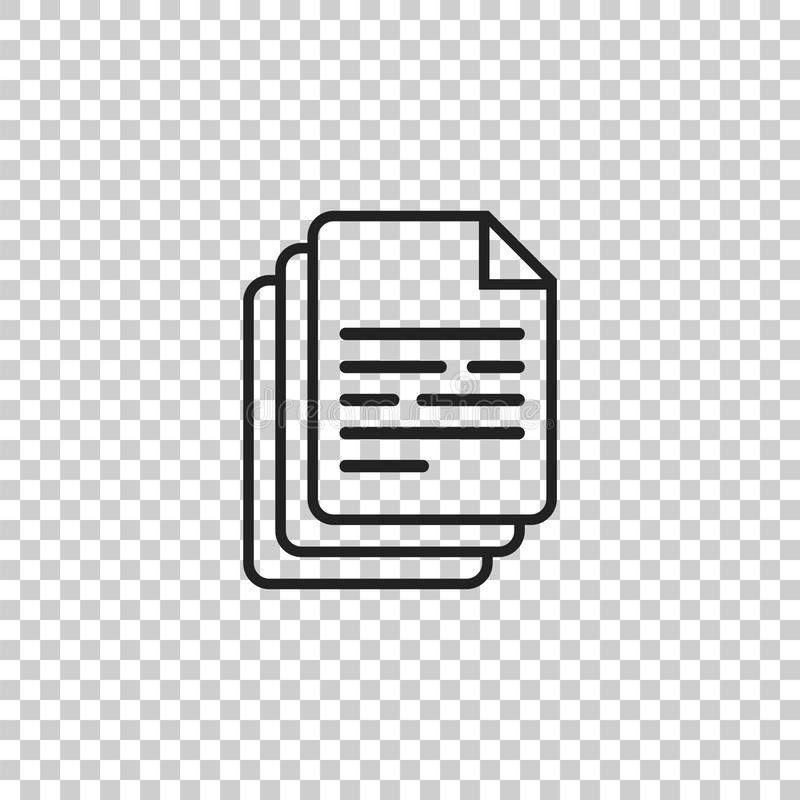 Illustration De Vecteur D'icône De Document Pictogramme