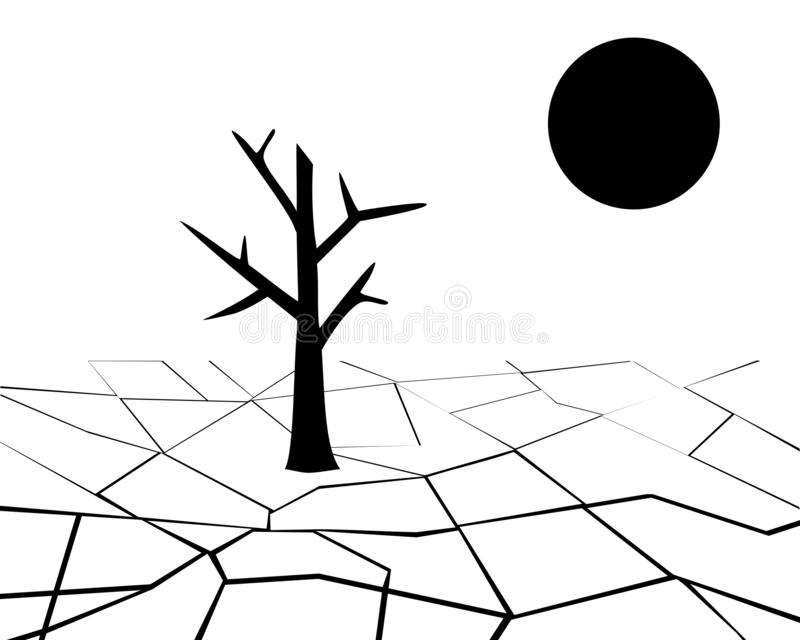 Drought illustration stock illustration. Illustration of