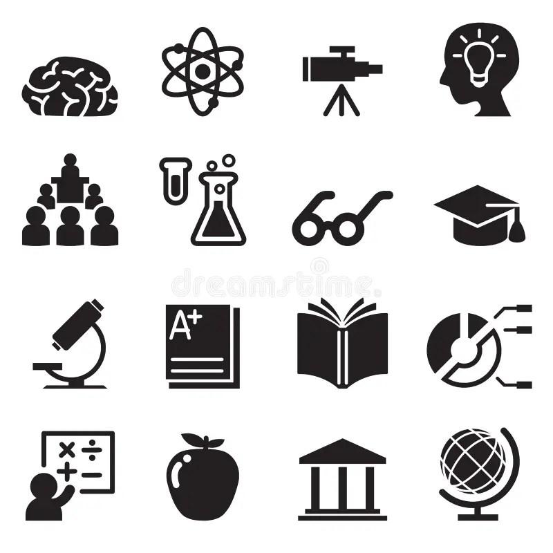 Icone di e-learning messe illustrazione vettoriale