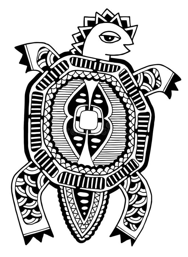 Tartaruga Con Gli Aiuti Del Disegno Illustrazione di Stock