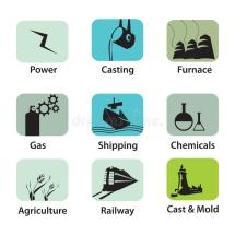 Industrial Icons Stock Vector. Illustration Of House