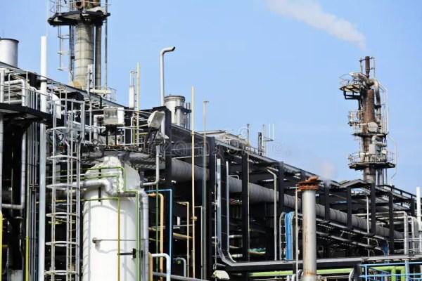 industrial factory in japan stock