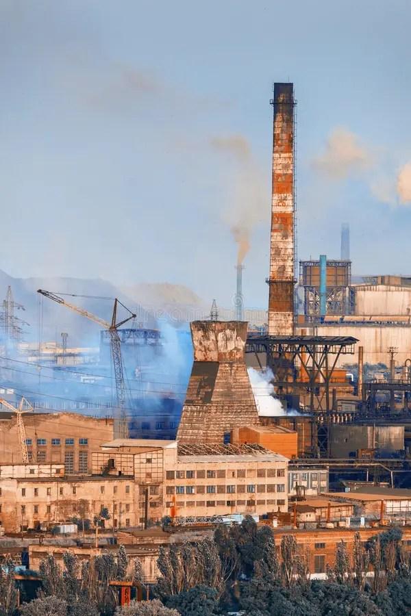 industrial landscape. steel factory