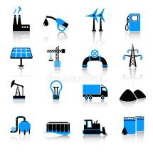 Industry Icon Set Stock Vector. Of Facilities Fuel