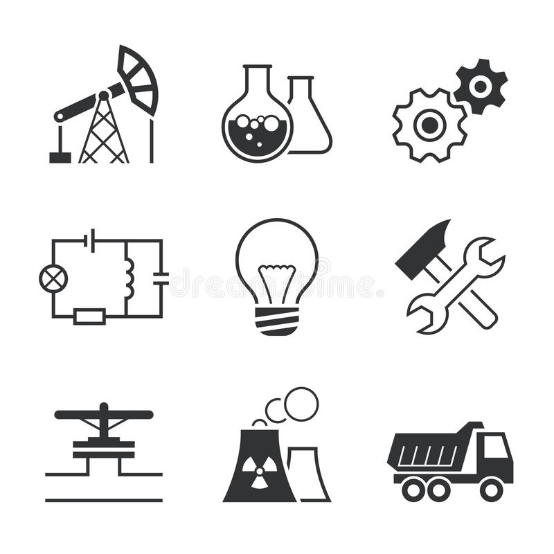 Chemistry Simple Vector Icon Set Stock Vector