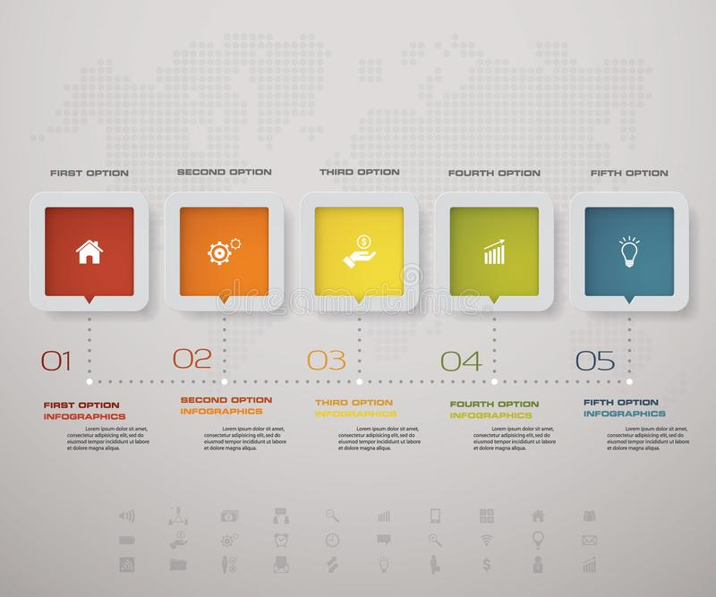Infographic Design Elements For Your Business With 5 Options. 5 ...