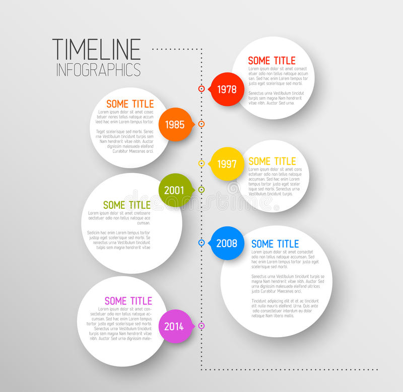 Infographic Timeline Report Template Stock Vector