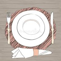 Utensils Setting On Table & Informal Vector Table Setting ...