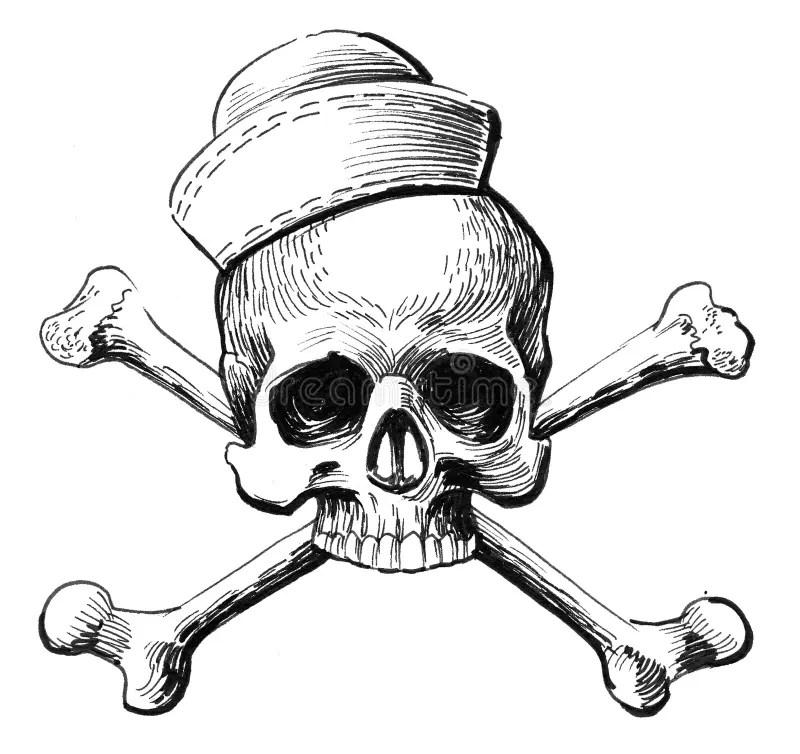 Skull and bones stock illustration. Illustration of