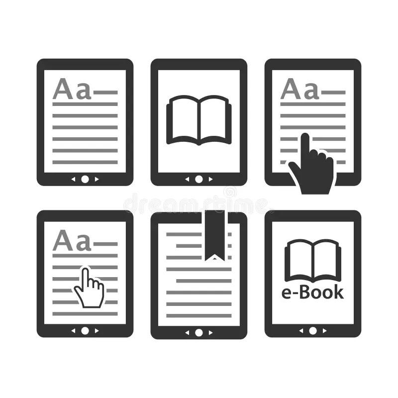 Lettore Del Libro Elettronico, Icone Del E-lettore Messe