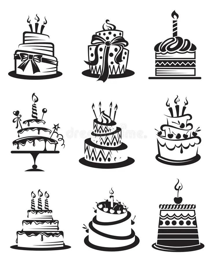 Insieme delle torte illustrazione vettoriale