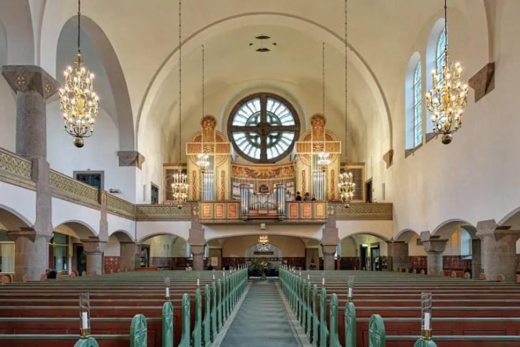 Interior De La Iglesia Famosa Del Romanesque Foto editorial ...