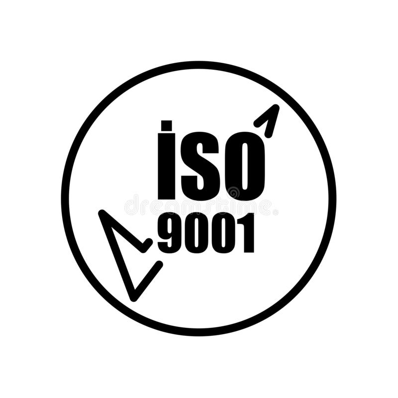 ISO 9001 Quality Management System. Process Diagram With