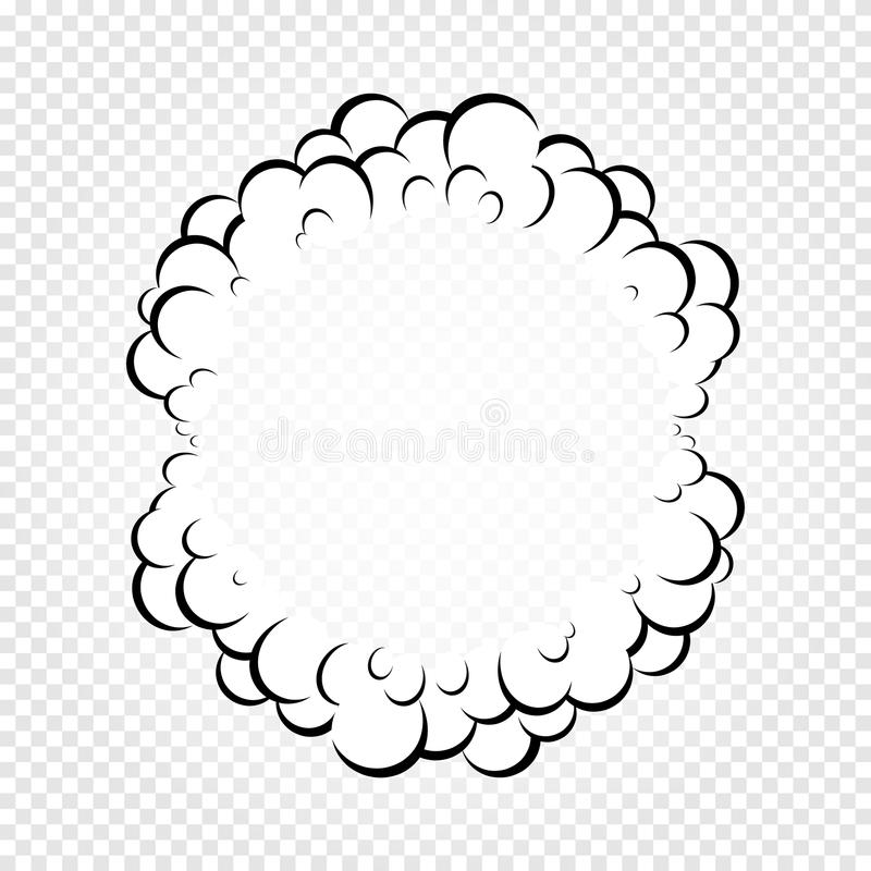 Isolated Cartoon Speech Bubbles, Frames Of Smoke Or Steam