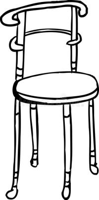 Isolated Chair Outline stock illustration. Illustration of ...