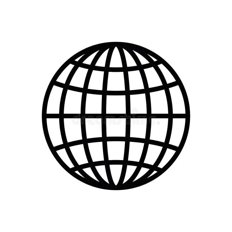 Global Media Technology World Sphere Stock Illustration