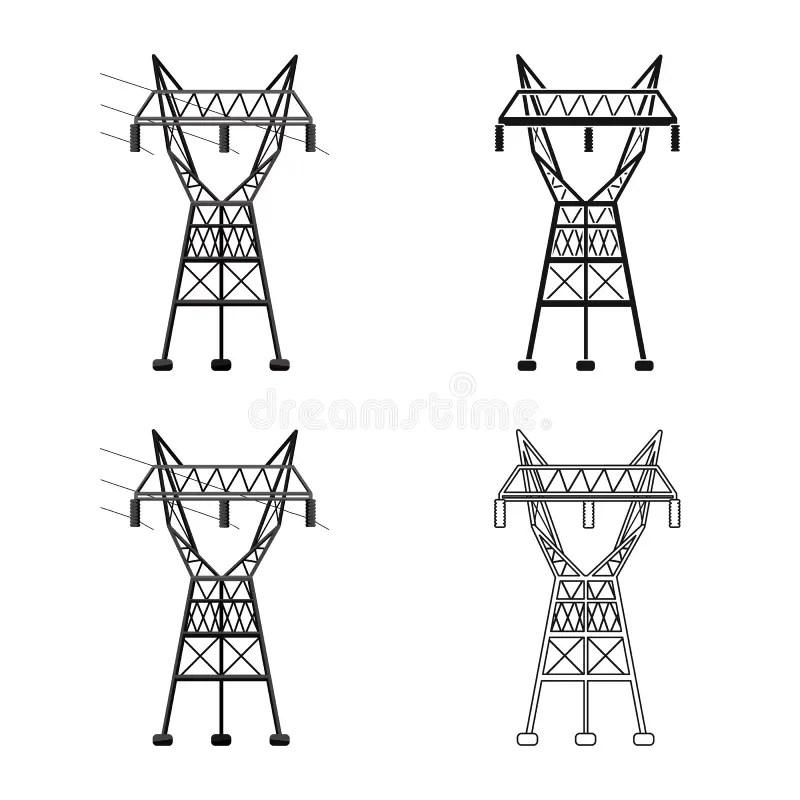Transmit electricity stock illustration. Illustration of