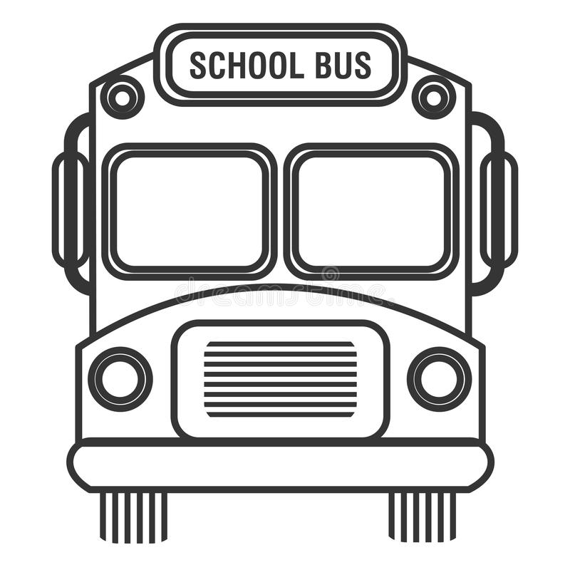 Isolated School Bus, Vector Graphic Stock Vector
