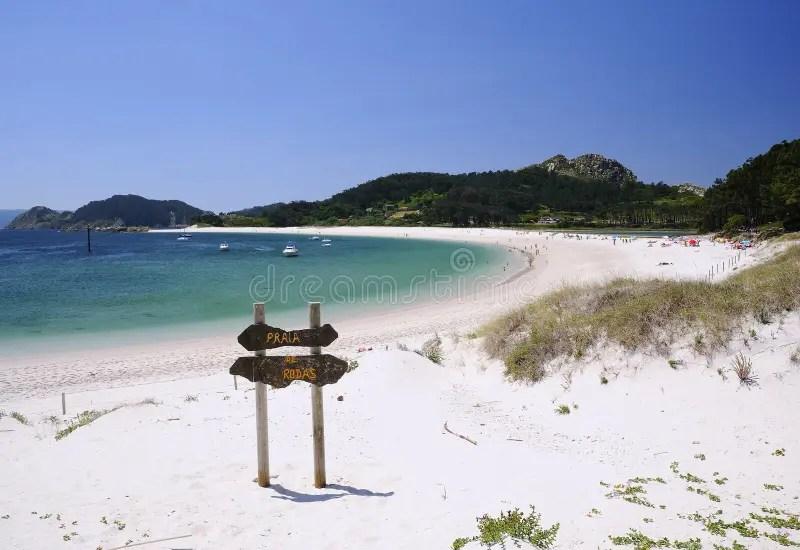 Isole Cies a Vigo Spagna fotografia stock Immagine di