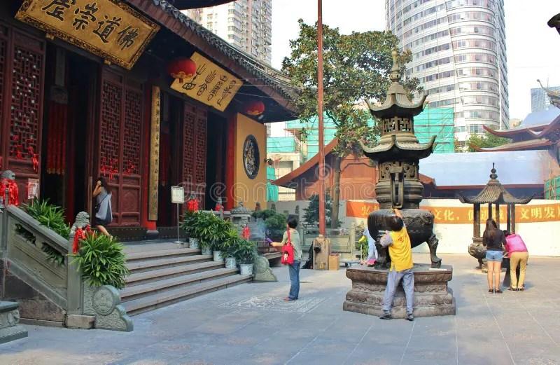 Jade Buddha Temple. Shanghai Editorial Photo - Image of shanghai. chinese: 17381786
