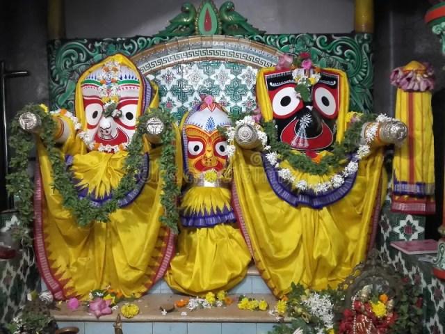 Jagannath Idol of Local Temple of Odisha India. This idol is belongs to Lord Jagannath Temple of Odisha stock photo