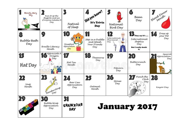 January 2017 Unusual Holidays And Quirky Celebrations