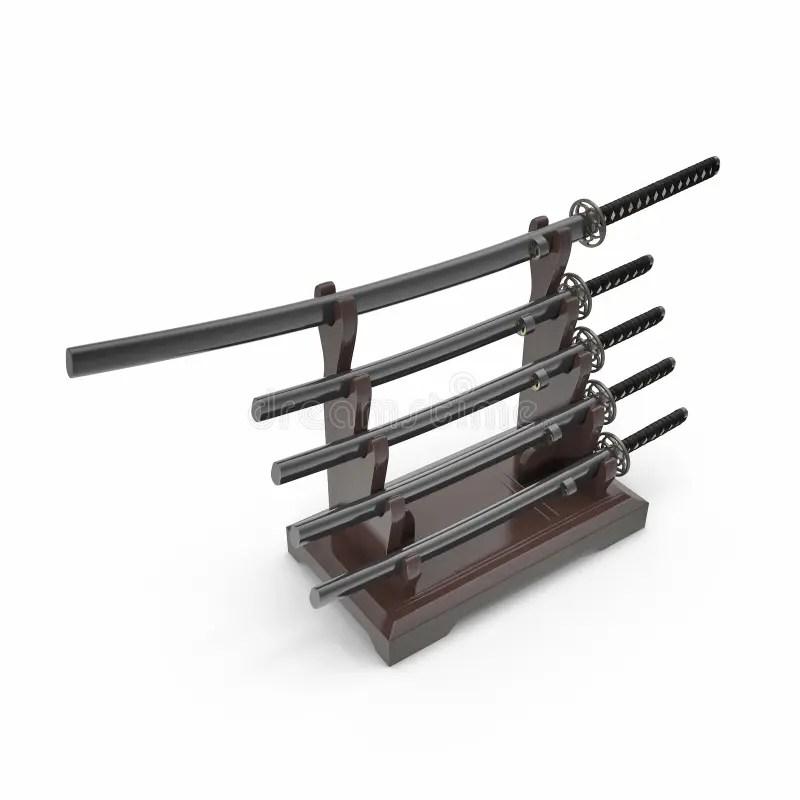 japanese sword katana display rack