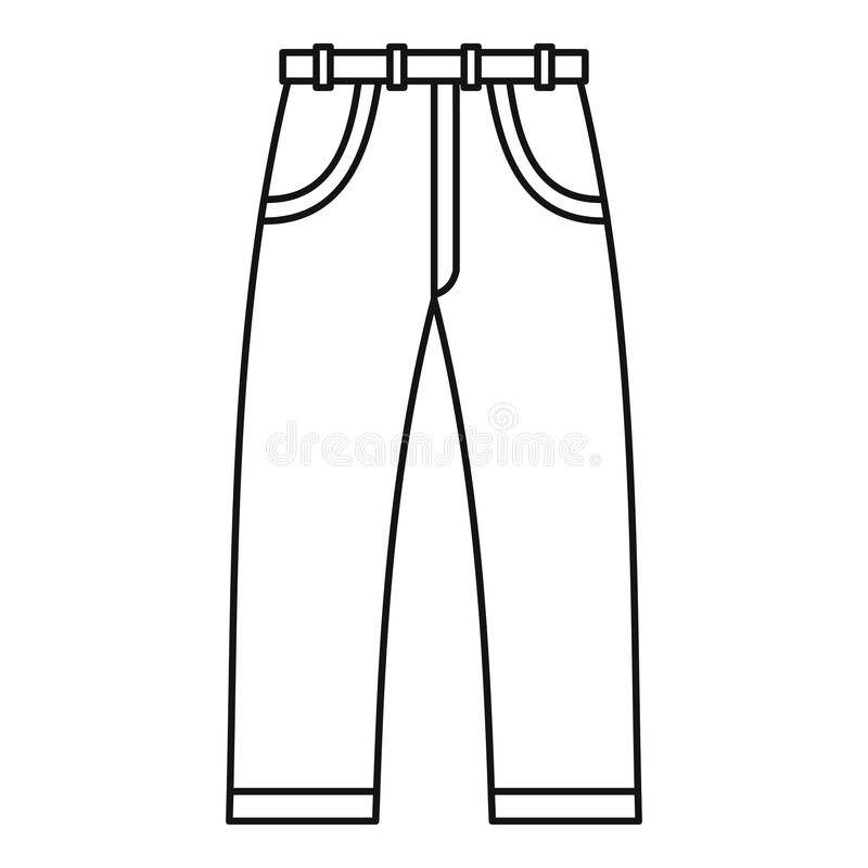 Jeans icon, outline style stock vector. Illustration of