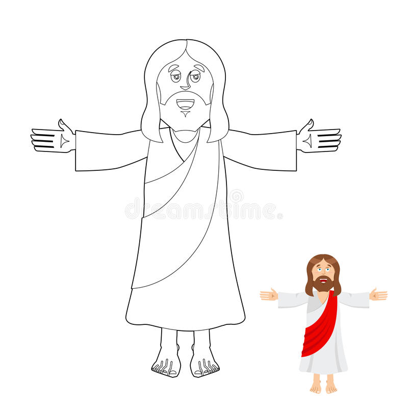 Jesus Coloring Book. Jesus Christ Drawing For Children