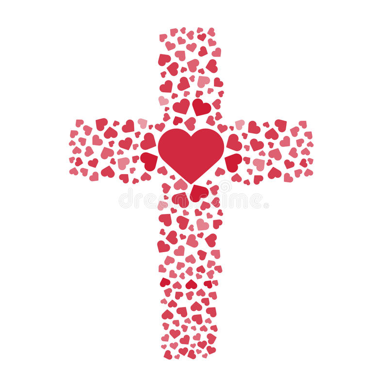Download Jesus True Love. Cross. Heart. Love. Vector Illustration ...