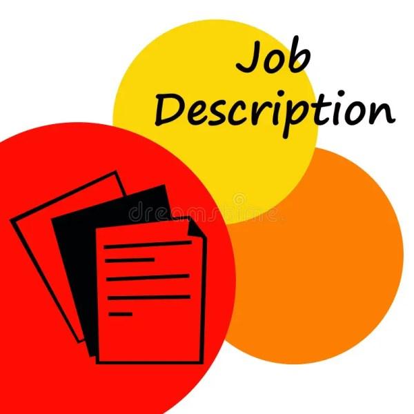 Job Description Stock Illustration. Illustration Of