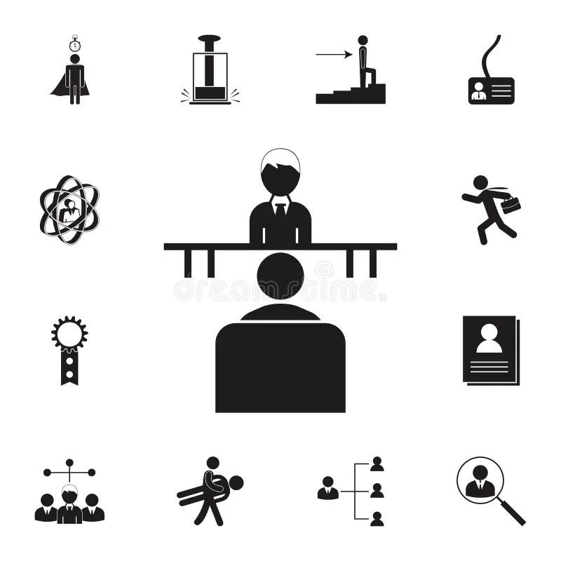 Silhouette Job icon Set stock vector. Illustration of