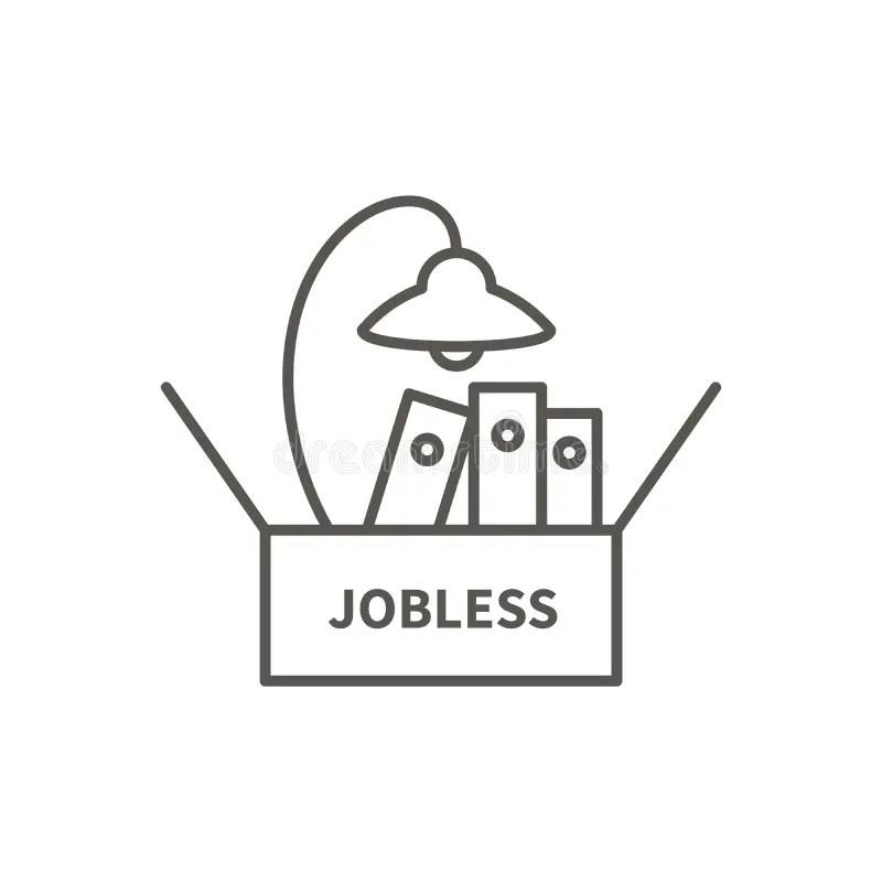 Job loss sign stock illustration. Illustration of warning