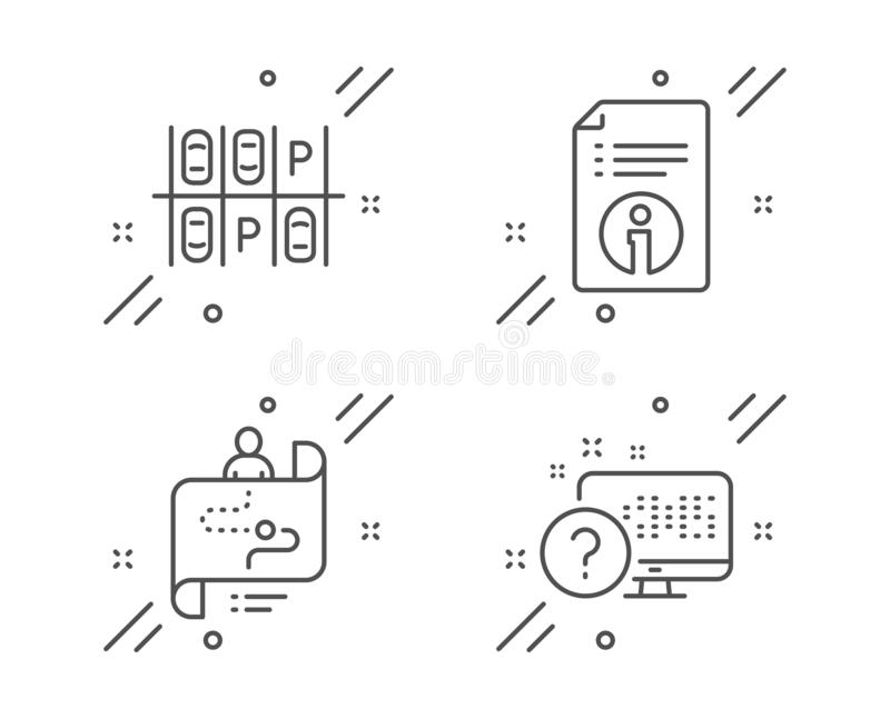 Technical Info, World Money And Marketing Icons Set