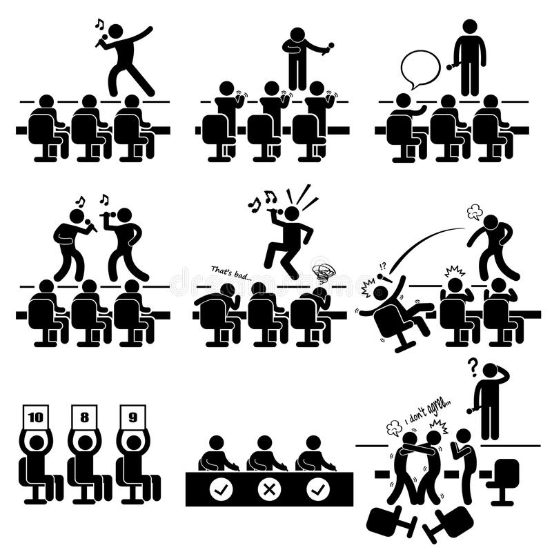 Audition Stock Illustrations